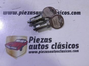 Juego de dos bombillos de puerta con llave Renault 4 CV y Dauphine