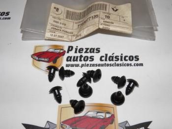 Kit 10 Grapas Fijación Paragolpes Renault Laguna , 12 , 21,Master II, Trafic I... Ref:7703077135
