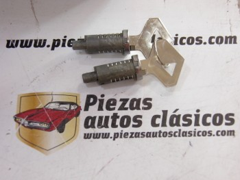 Pareja bombín de cerradura  Renault 4, 6 y 12 moderno (misma llave)