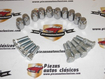 Kit 5 pernos de rueda delanteros , 5 traseros y 10 tuercas cromadas Dodge 3700 GT (para frenos delanteros de disco)