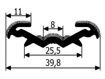 Guía De Cristal Flocada Renault 5, 6, 7 y 12 vendida por metros