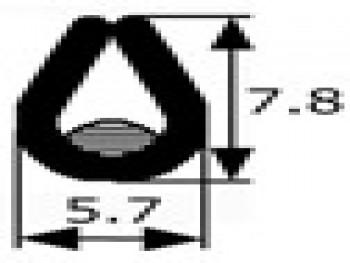 Perfil vierteaguas negro, vendido por metros