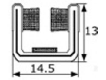 Guia de cristal articulada 14mm, vendida por metros