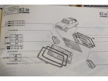 Pareja Gomas Custodias Traseras Renault 6  Ref:7700508406
