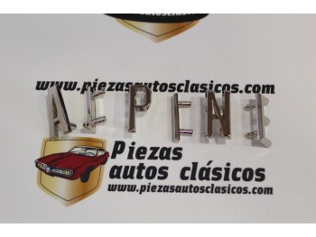 Kit Letras Anagrama Alpine ( 31mm )