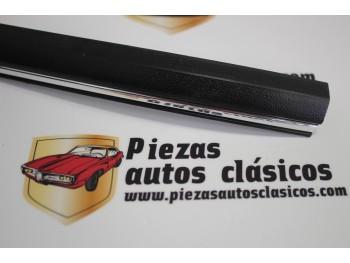 Moldura adesiva negra/cromo modelo 4 (6x24mm.), vendida por metros