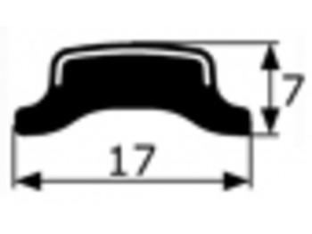Junquillo cromado contorno luna Renault 12, vendido por metros