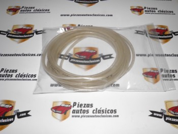 Tubo Vinilo Transparente Limpiaparabrisas 4x6mm (vendido en rollos de 5m)