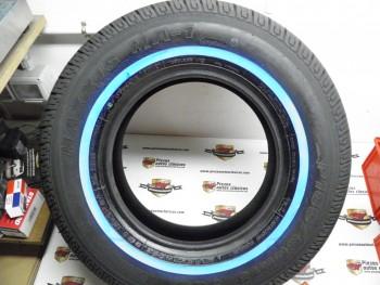 Juego de 4 neumáticos 185 SR 13 banda blanca estrecha